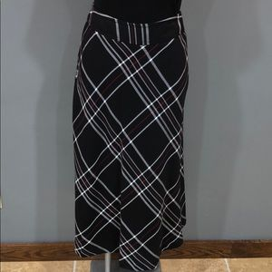 East 5th plaid fit and flare skirt